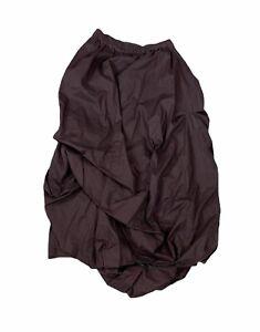 Lilith France Dark Brown Balloon Midi Skirt Size Large Gathered Hem Bubble Skirt