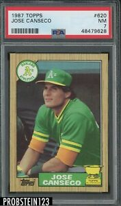 1987 Topps #620 Jose Canseco Oakland A's RC Rookie PSA 7 NM