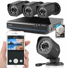 Zmodo 1080P 4CH HDMI NVR 1.0 Megapixel Video Home Security Camera System 1TB HDD