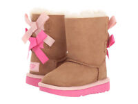Toddler UGG Bailey Bow II 1017394T Chestnut Pink Azale 100% Authentic Brand New