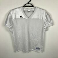 Russell Athletic Practice Football Mesh Jersey White Short Sleeve Size XL Mens
