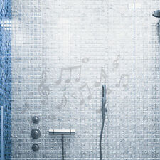 Glasdekor Musik Noten Bad Aufkleber Sandstrahl Glas Milchglas #5014
