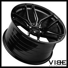 "19"" 20"" STANCE SF03 GLOSS BLACK CONCAVE FORGED WHEELS RIMS FITS C7 CORVETTE"