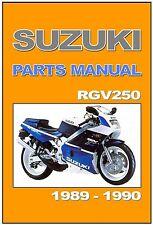 SUZUKI Parts Manual RGV250 Gamma 1989 and 1990 Replacement Spares Catalog