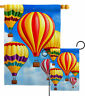 Hot Air Balloon Mass Garden Flag Fun In The Sun Summer Decorative House Banner