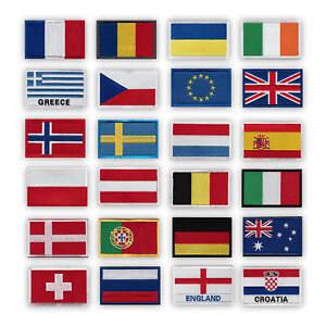 Onuris Länder Patches Aufnäher International Country Badge mit Klett hochwertig