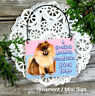 POMERANIAN Wood Ornament Dog Everyday Decoration Decor New USA Mini Sign Gift
