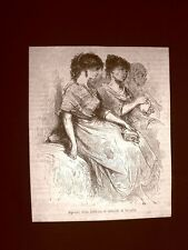 Incisione di Gustave Dorè del 1874 Sigaraie fabbrica di tabacchi Siviglia Spagna
