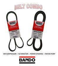 BANDO OEM Serpentine Belt 2 Pcs Fit CADILLAC,CHEVROLET, GMC V8 6.0L Alt 105 Amp