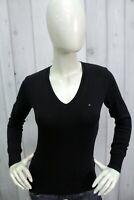 TOMMY HILFIGER Donna Taglia S Maglione Cotone Sweater Pullover Maglietta Pull