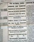 ABRAHAM LINCOLN President-Elect JOURNEY To Washington White House 1861 Newspaper