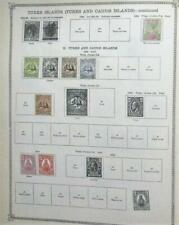 mbdstamps-W71-Turks, Turks & Caicos, on Ideal pages to 1915