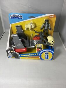 DC Super Friends Lobo Figure & Motorcycle Plastic Interactive Play 3 Years & Up