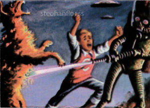 1994 Topps Mars Attacks Archives Matrix 1 of 4 Destroying A Dog