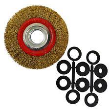 Roue de fil d'acier 150mm avec adaptateurs de brosse 6 et 8pouce Bench broyeurs