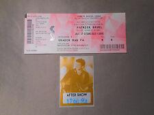 PATRICK BRUEL PASS BACKSTAGE AFTER SHOW CONCERT TOUR 2013 RARE