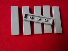 LEGO PART 2431 LIGHT GREY 1 x 4 TILE SMOOTH x 6
