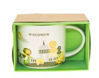 Starbucks You are Here Wisconsin 1 version Yellow Chair Coffee City Mug 14Oz