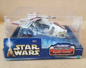 Star Wars Micro Machines 2002 Action Fleet Republic Gunship - Mint in Box