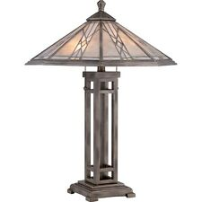 Quoizel Cyrus 2 Light Table Lamp in Anniversary Silver - MCCS6326AS