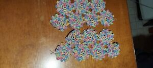 Vintage Hand Crocheted Doilies Multi Colored