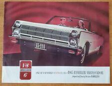1965 AMC Rambler Ambassador sales brochure catalog pamphlet Muskegon Heights MI
