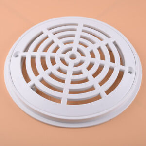 8 Inch Replacement White Universal Round Swimming Pool Main Drain Cover W/Screws