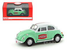 1966 VOLKSWAGEN BEETLE GREEN COCA COLA 1/43 DIECAST CAR MODEL BY MCC 440031