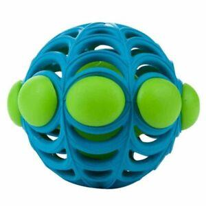 New NWT Dog Puppy Toy JW Pet Arachnoid Ball Medium Blue/Green Squeaks