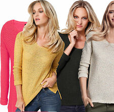 Women's Chunky, Cable Knit Knit Scoop Neck None Long Sleeve Jumpers & Cardigans