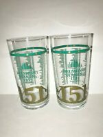 TWO 2019 BELMONT STAKES Glasses!!   2 Belmont Glasses for YOU!!    NEW + MINT!!