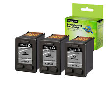 3 Pack 56 Ink Black C6656AN for HP PSC 2410Xi 2420 2510 1315V 1317 2210xi 2410
