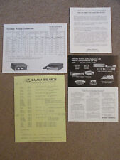 Lot of Ramko Research 1975 advertising pamphlets spec sheet and price list