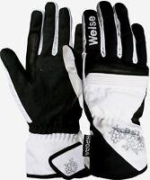 Weise Gemma Ladies Black & White Waterproof Motorcycle Gloves NEW RRP £35.99