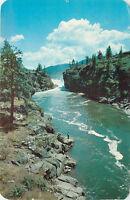 Chrome Postcard B470 1959 Cancel Spokane River Washington Post Falls Idaho WA ID