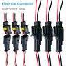 10 pair Waterproof 12V 2-pin Electrical Wire Connector Plug Cable  Car Boat Kit@