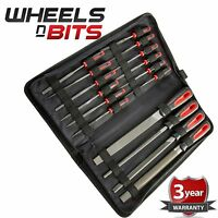 16pc File Set Flat Round Curved Garage Builders Assorted Engineer Metal + Case