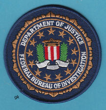 "DEPARTMENT OF JUSTICE  FBI SEAL POLICE  SHOULDER PATCH  (3 5/8"")"