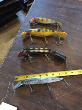 4 Antique Large Fishing Lures