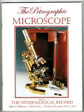 Mineralogical Record - Petrographic Microscope