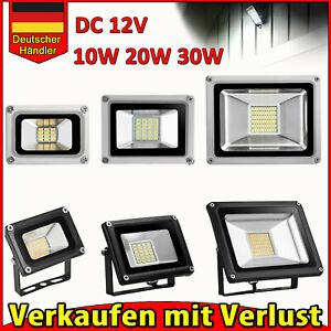 DC12V 10W 20W 30W  LED Flutlicht Fluter Strahler SMD Außen Scheinwerfer IP65 DHL
