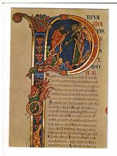 Postcard: Initial at the beginning of II Kings, Winchester Cathedral Library