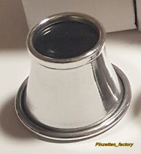 Alu Uhrmacherlupe Augenlupe Okular Juwelier Augenlupe 10 fach(Aluminium)