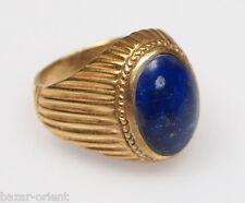 orient Massive silber Vergoldet Ring Lapis Lazuli Afghanistan gold-plated no.439