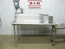 Advance Tabco 60 Stainless Steel Left Side Clean Hobart Dish Washer Table 5