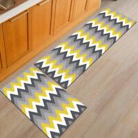 "2Pcs/set 23""+47"" Anti-Slip Home Kitchen Floor Carpet Area Rug Bathroom Doormat"