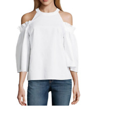 Women's Cold Shoulder Short SleeveT-shirts Blouse Casual Tops XL10-12 Party!