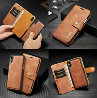 For iphone XS XSmax XR X 7 8 Plus Case Function Leather wallet Card Flip over