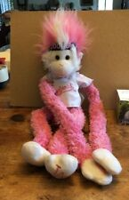 MLB Los Angeles Dodgers Fuzzhead Pink Tall Skinny Monkey Stuffed Animal