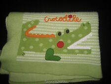 Koala baby knit blanket boy girl green alligator crocodile